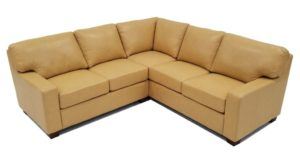 Albany L Shape Sectional in Navajo Butter Italian Leather