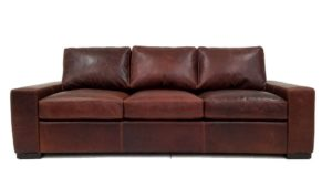 Max Sofa in Italian Triana Chocolate Leather