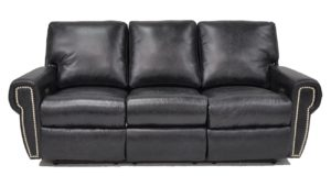 Bismarck Reclining Sofa in Maverick Blue Steel