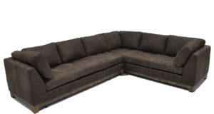 Esport Sectional in Bronco Tobacco