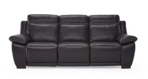 Natuzzi Editions B875 Sandro Sofa Ottimista in Dream Dark Brown Italian Leather
