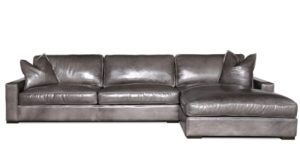 Buttercup Chaise Sectional in Cartier Wolf
