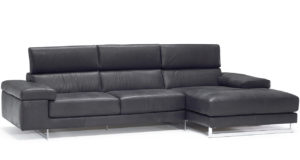 Natuzzi Editions B619 Saggezza Black Leather Sectional