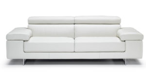 Natuzzi Editions B619 Saggezza White Leather Sofa