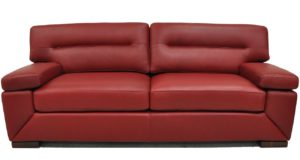 Biloxi Red Leather Sofa