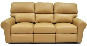Reclining Leather Sofa in Brown