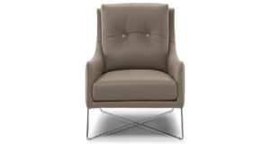 Natuzzi Editions C011 Amicizia Grey Leather Chair