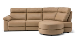 Natuzzi Editions C126 Estremo Tan Leather Sectional