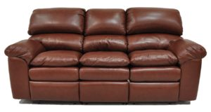 Catera Brown Leather Sofa