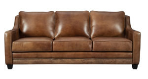 American Made Leather Sofa