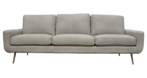 American Made Modern Leather Sofa